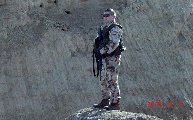 A. Daugirdas patirties sėmėsi misijoje Afganistane