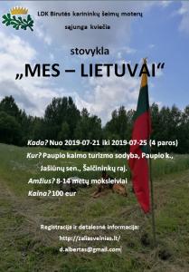 stovyklos skelbimas 2019